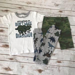 CARTER'S Dinosaur Camouflage Pajamas Set Pants Top